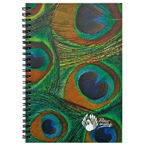 O'BON green cane notebook (A5) _ Art _ iridescent plumage series