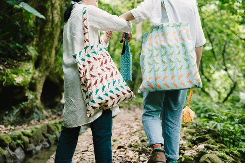 Simple flat shopping bag Taiwan starlings 5 ​​/ Aqua
