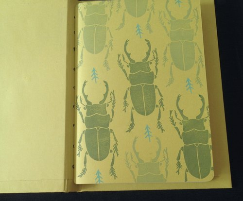 Beetle manual book notebook