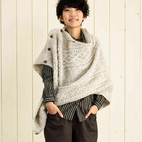 "Earth tree fair trade & amp; Eco- ""Wool Series"" - multifunction shawl (white)"