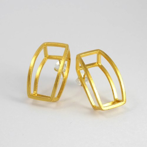 SIMPLIFY EARRING - GOLD PLATED ON SILVER
