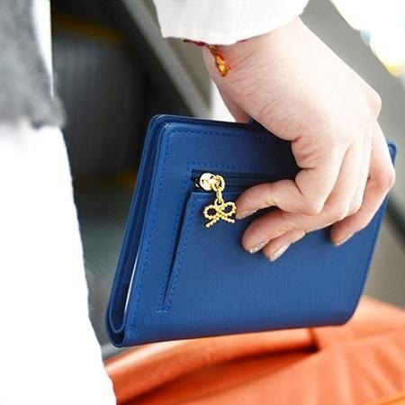 Dessin x Jamstudio- bow ladies wallet Passport Case - navy blue, JSD78162