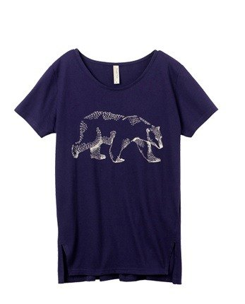 "Earth tree fair trade- ""organic cotton clothing"" - an organic cotton T-shirt polar bear (M size only)"