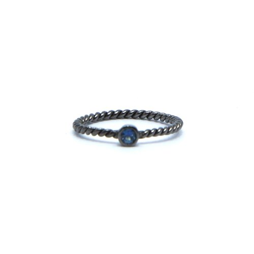 Mini Twisted Gemstones Ring