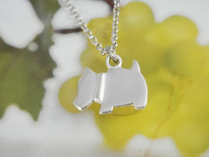 Customized sterling silver pet ashes necklace_schnauzer