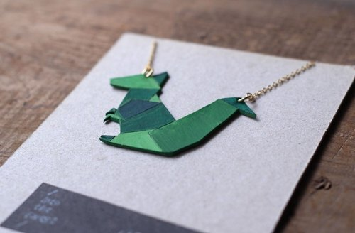 2D forest friends ☼ leather necklace