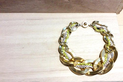 ♦ Bracelets ♦ ~ ♥ universe - crude fog Gold + white fluorescent green brush gold vc ✿