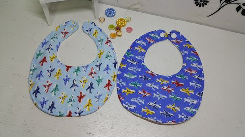 Aircraft lined up double gauze bibs