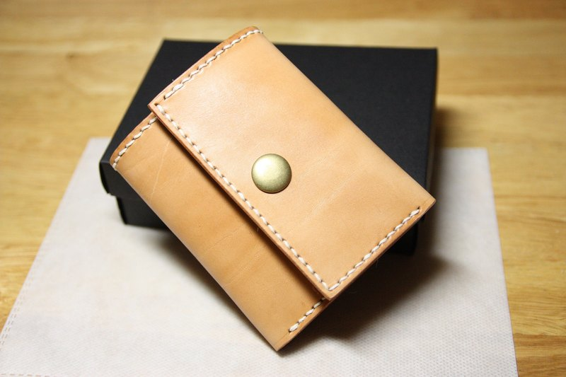 May Day Hands folded leather simple leather hand wallet card holder free lettering