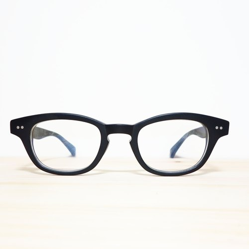 [Head] head firm senior Japanese plate extinction blue lens black frame glasses 37g