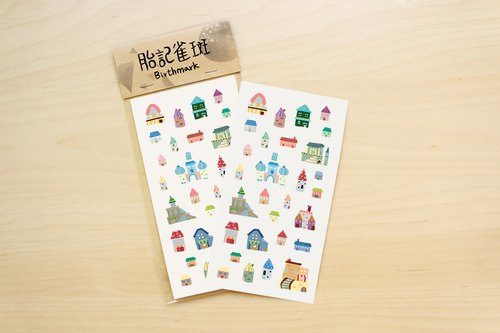 Small story house / knife film stickers