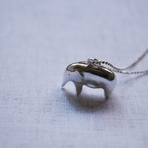 *Hello Elephant * handmade silver necklace