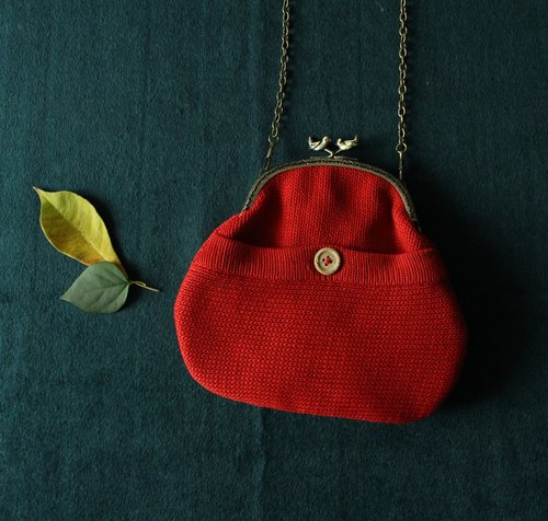 4.5 has hekou gold package - Reconstruction buttons red knitting bag series