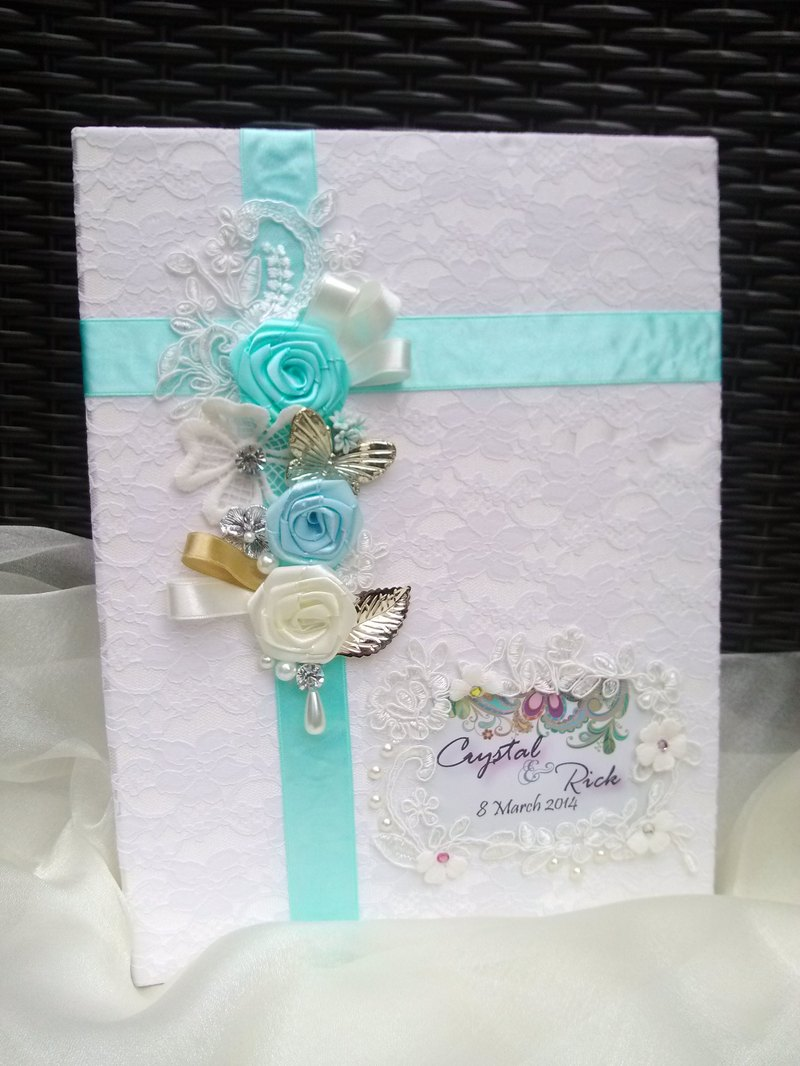 Marriage certificate folder marriage book folder - Lake blue system 1