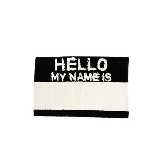 Second Lab -. HELLO MY NAME IS / BLACK carpet
