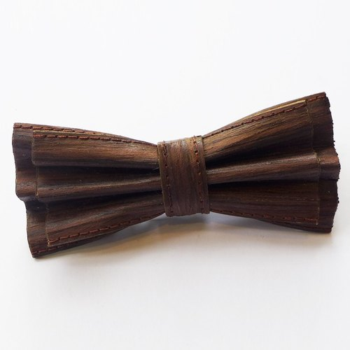 Cork leather bow tie