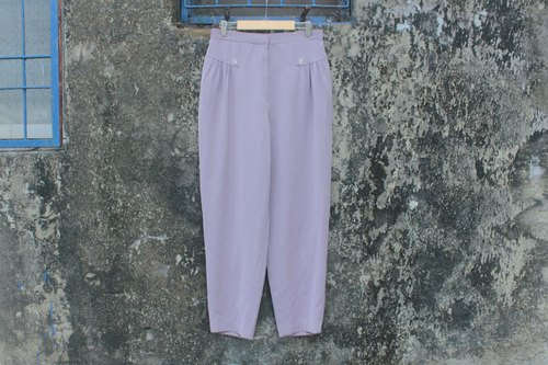 Lotus purple waist wide pants