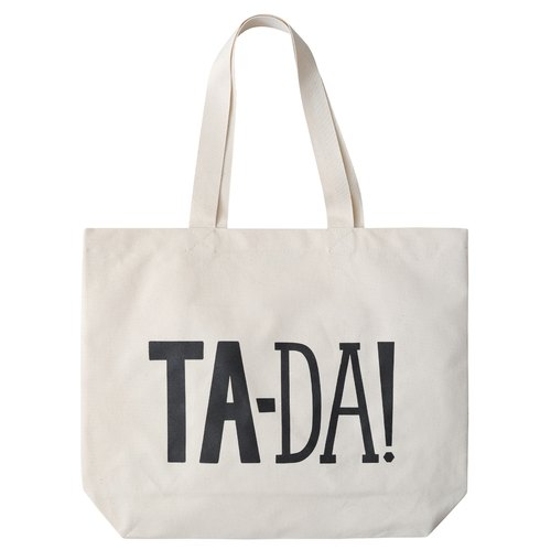 Alphabet Bags Tote letter -BIG BAGS series [Ta-Da! (Production UK / free shipping)