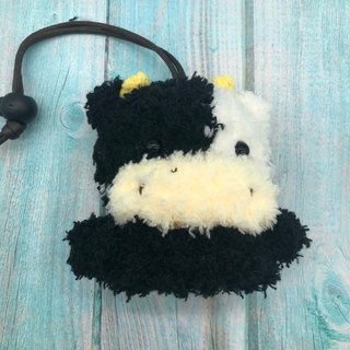 Marshmallow Animal Key Bag - Small Key Bag (Milk Cow)