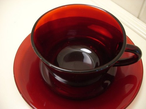 Royal Ruby Ruby Series antique coffee cup set / Anchor Hocking (Fire King Company)