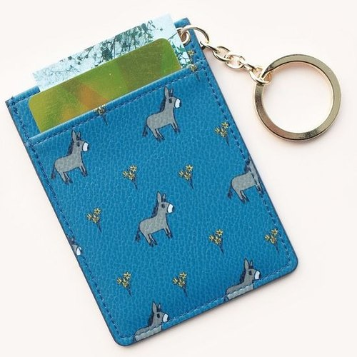 Dessin X Livework-JAM JAM forest ticket clip key ring leather - gray donkey, LWK93222