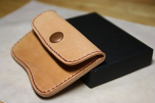 Hands-day month cowhide leather coin purse card holder free custom lettering