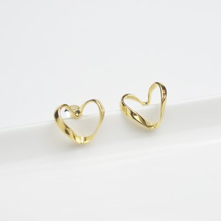 Endless love (k gold plated earrings) - C percent handmade jewelry