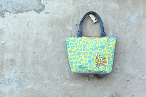 [Tote bag - small yellow-dog] - handmade limited edition merchandise