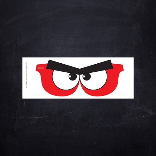 [buyMood] Angry Eyes Cartoon Glasses Sticker