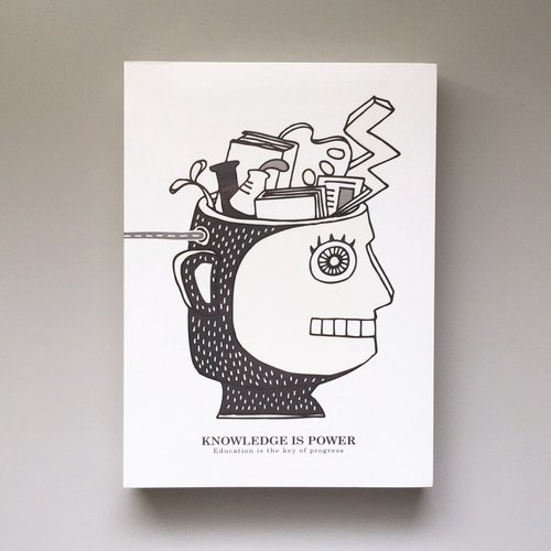 "A6 blank notebook ""Knowledge Is Power. Knowledge is power,"" Notepad universal book"