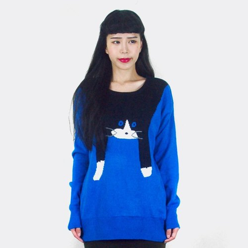 Lazy Cat vintage blue sweater AH5003