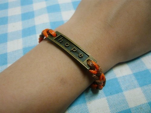 Nadia ♥ Hope hope is in his hands hit color knit wax rope bracelet Limited