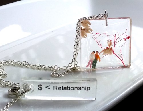 """The price tag: $ <Relationship"" chapter of friendship necklace"