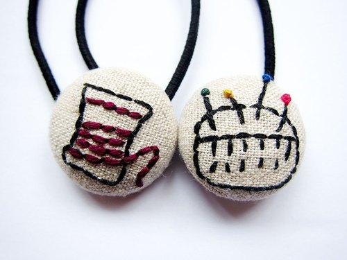 Hand-made cloth button hair headband ring hand embroidery sewing utensils
