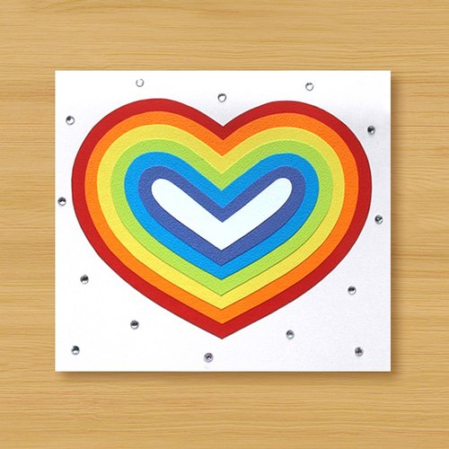 Craft Cards: Colorful Love _C subsection (Valentine cards, mother cards, thank you card)