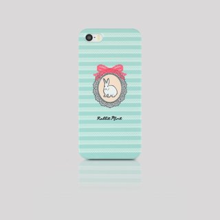 (Rabbit Mint) Mint Rabbit Phone Case - light blue lace rabbit portrait series - iPhone 5 / 5S (P00043)