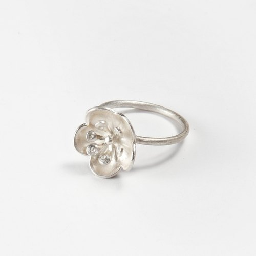 I-Shan13 | Shan Mo flowers and birds series / single plum ring