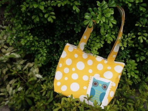 [Owl] bubble shoulder bag * tote bag * big bag