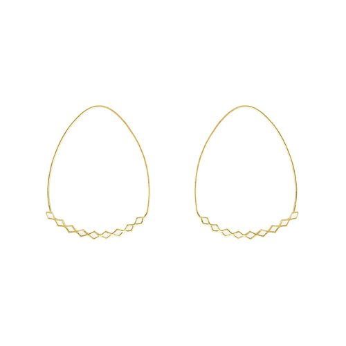 Quilted circle earrings BIFROST HOOP EARRINGS