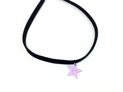 """Purple Star Necklace"""