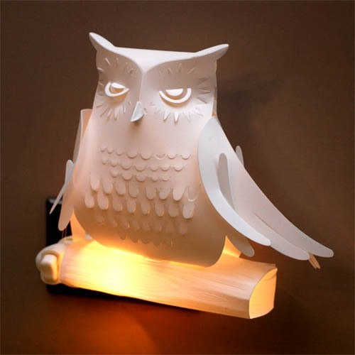 Lanyu scops owl lampshade (Nightlight) Taiwan endangered species series Formosan Scops Owl Lampshade