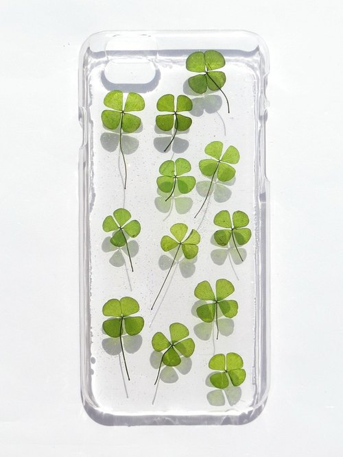Anny's workshop hand-made Yahua phone protective shell for Apple iphone 6, Clover