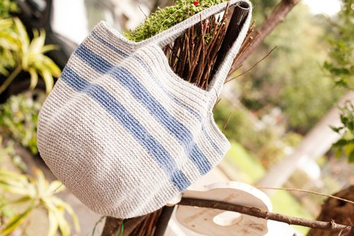 [Good day] minimalist style hand-made twine woven bag