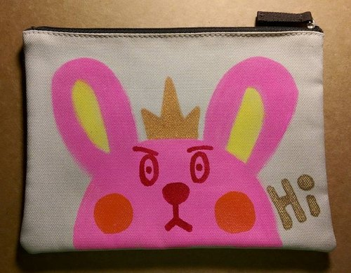 Do not get angry bunny / freehand bottom / makeup bag / pencil case
