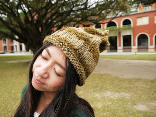 Mama 100% hand-made hat - Owl Elf caps - Graded brown - Christmas / exchange gifts