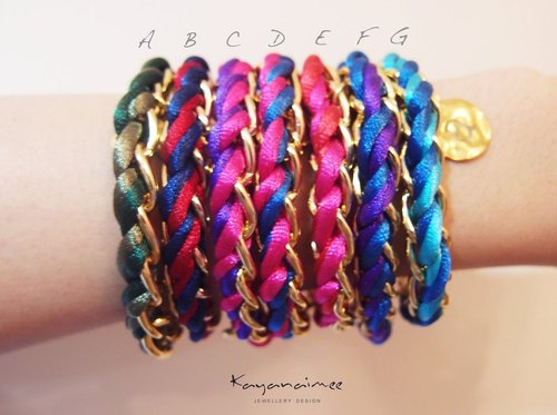 2012 S / S Colorful Chain Bracelet | Spring Color Bracelet