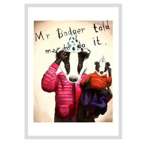 Mr Badger design poster | Jimbobart