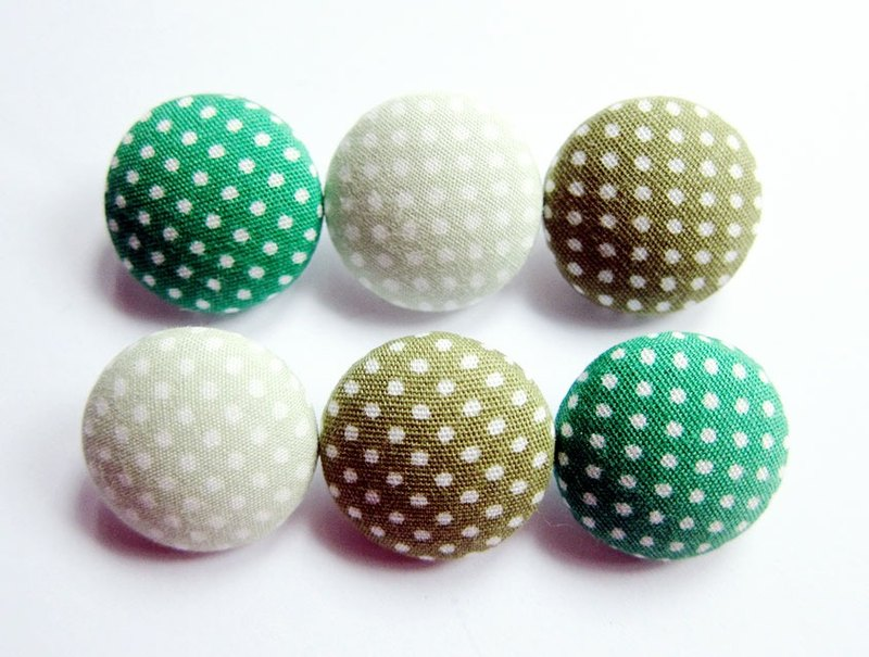Cloth button sewing knitting hand-made little green material