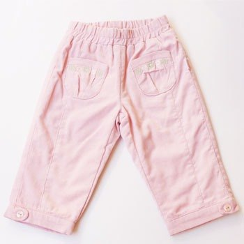 andywawa pale pink flowers Cotton Trousers