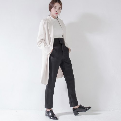 SU: MI said Mambo modern high waist pants _5AF302_ black